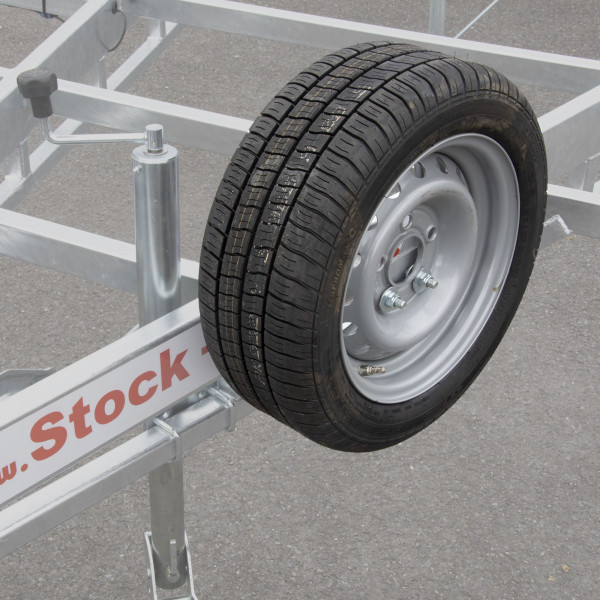 """13 """"spare wheel for Tiny House trailer with 120x40 support"""