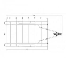 Set rampes droit aluminium 3000 x 300