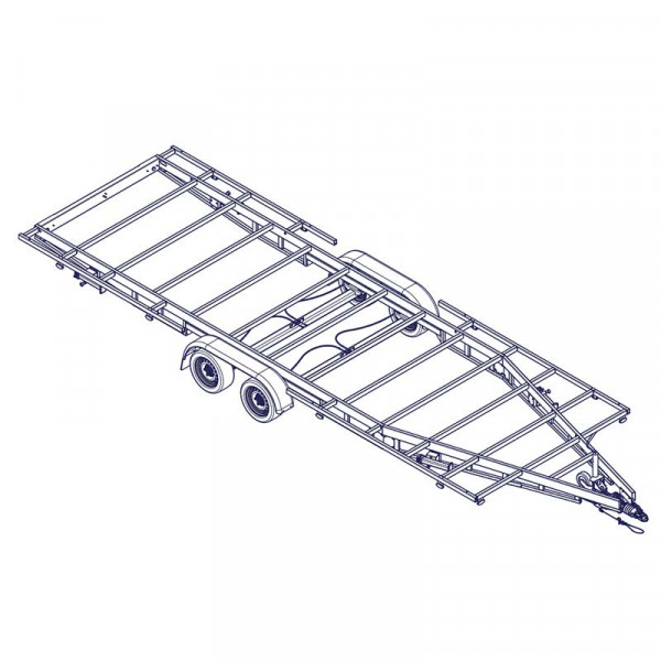 7m20 2 axles 1800kg - Trailer for Tiny House