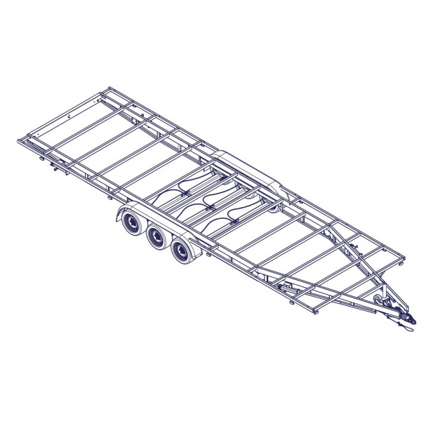 7m80 3 axles 1350kg - Trailer for Tiny House