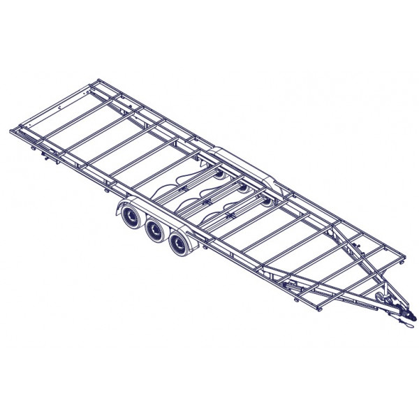 8m40 3 axles 1800kg - Trailer for Tiny House